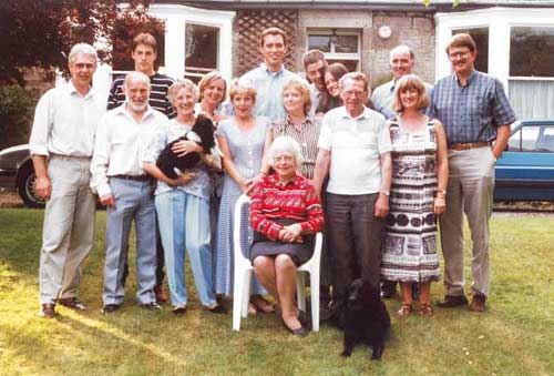 Family and Friends at the Farewell Party at Lasswade 1995